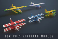 Low poly airplanes