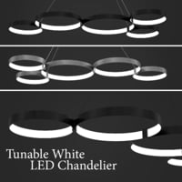 3D model white led chandelier