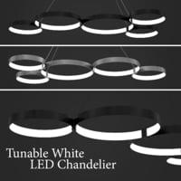 3D model white led chandelier