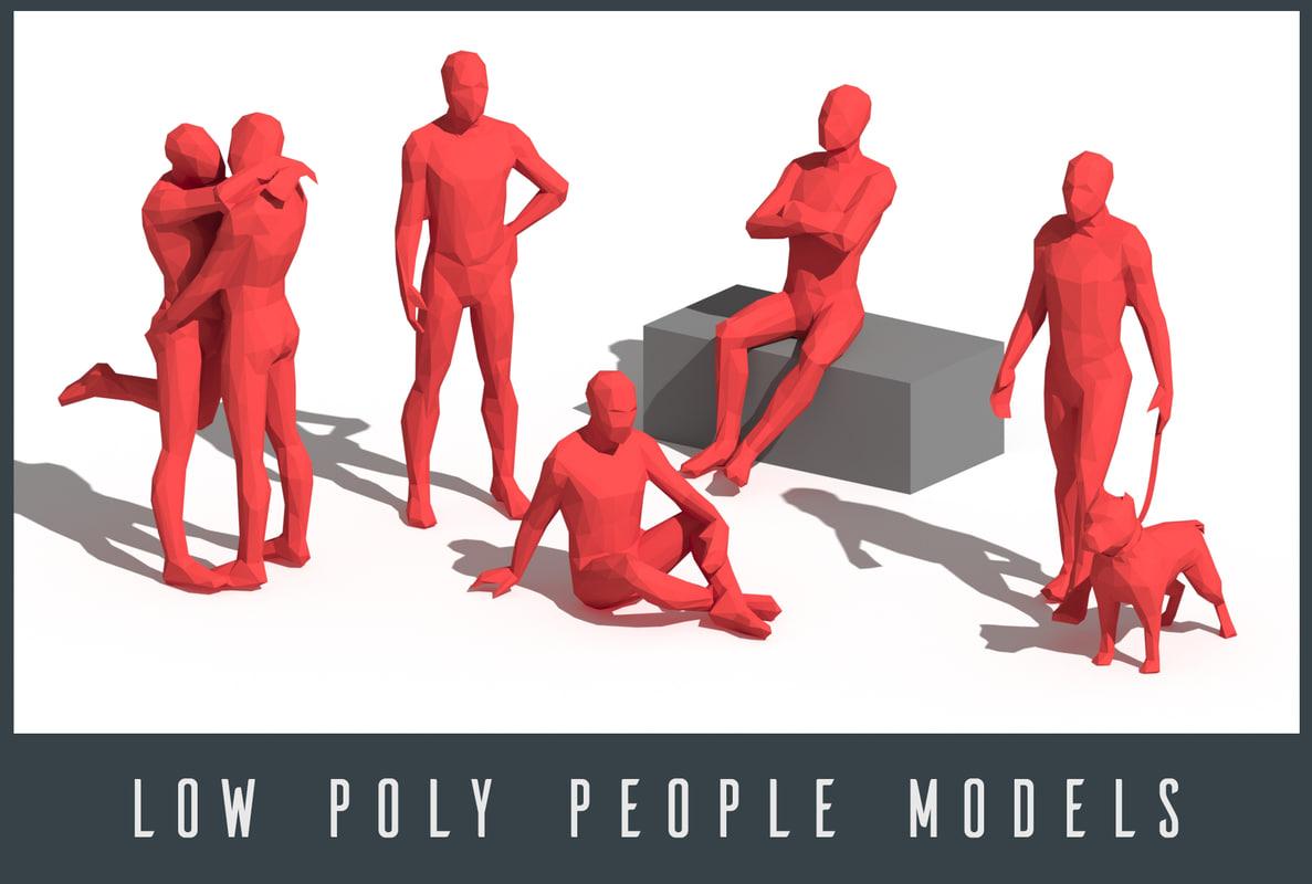 people 3D model