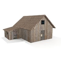 Old Cottage II Low Poly