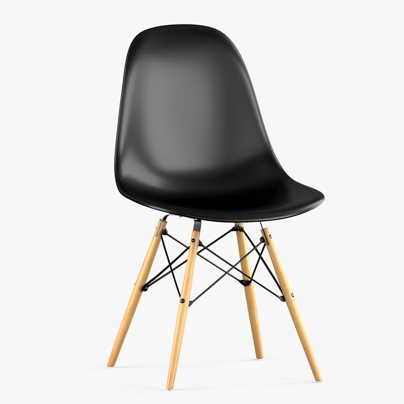 Dsw plastic chair vitra eames 3d model turbosquid 1237071 for Replica vitra eames