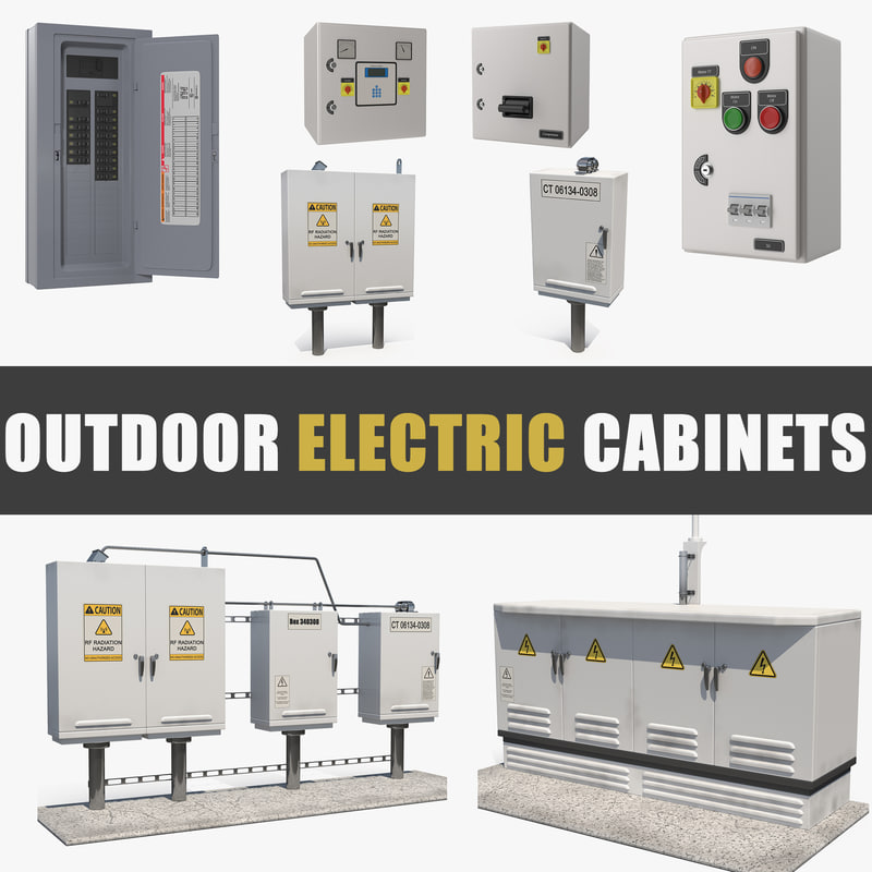3D outdoor electric cabinets model