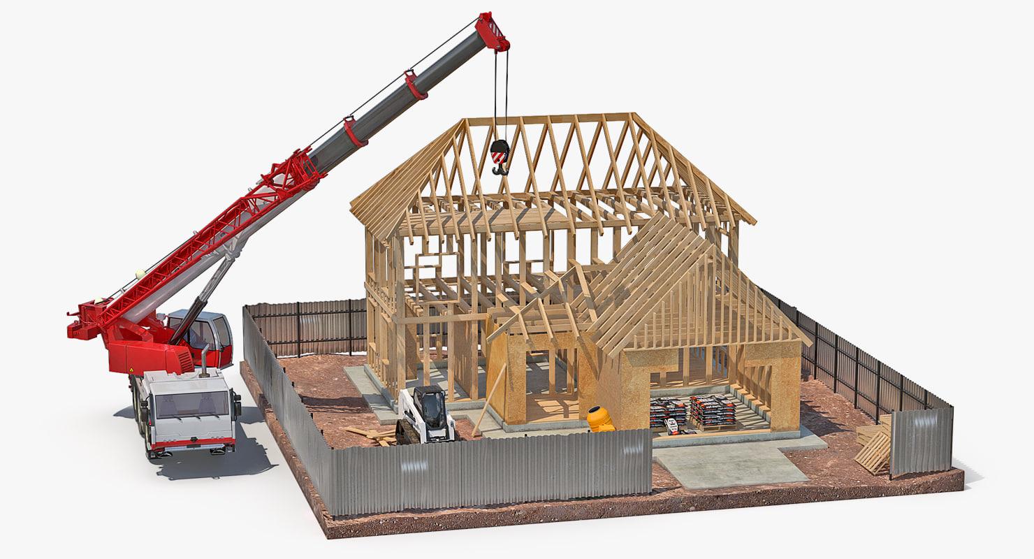 Private House Construction 2 3D Model