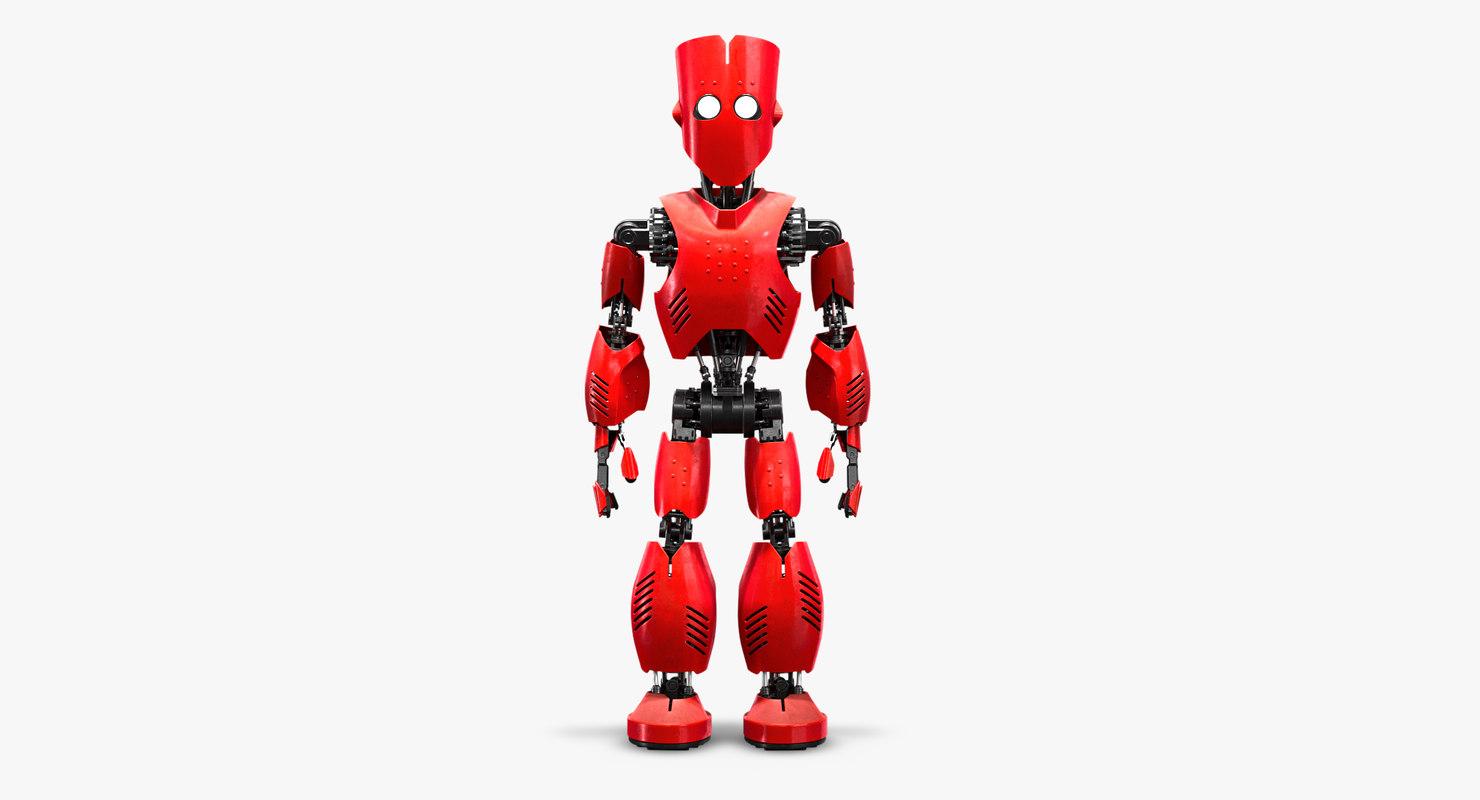 3D robot rigged model