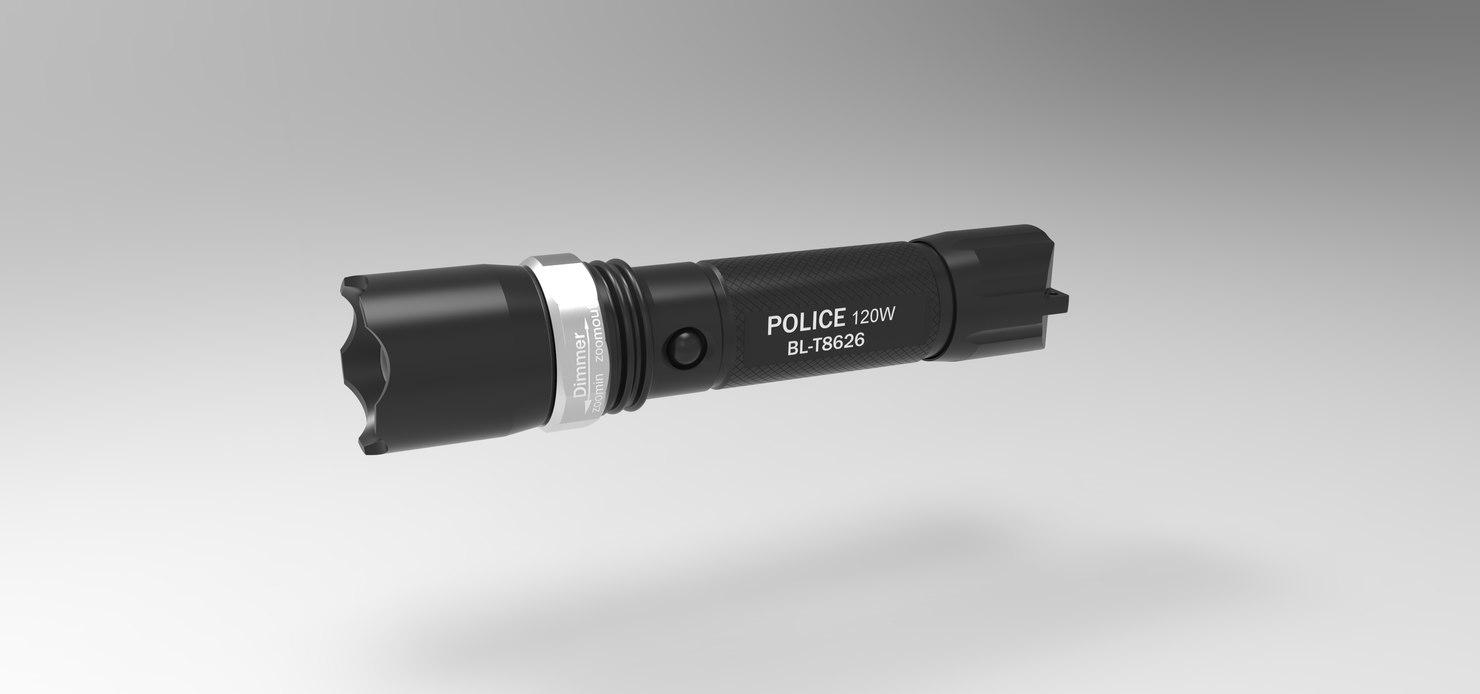 3D flashlight bailong bl-t8626