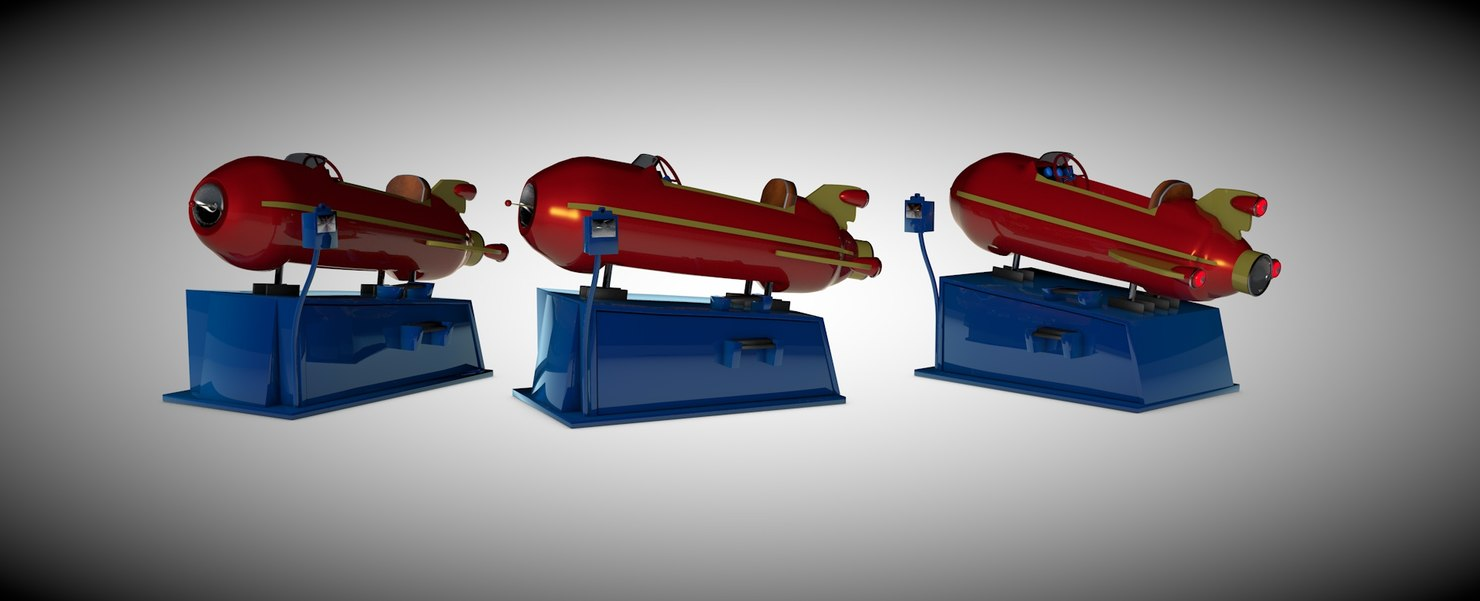 3D space ship ride