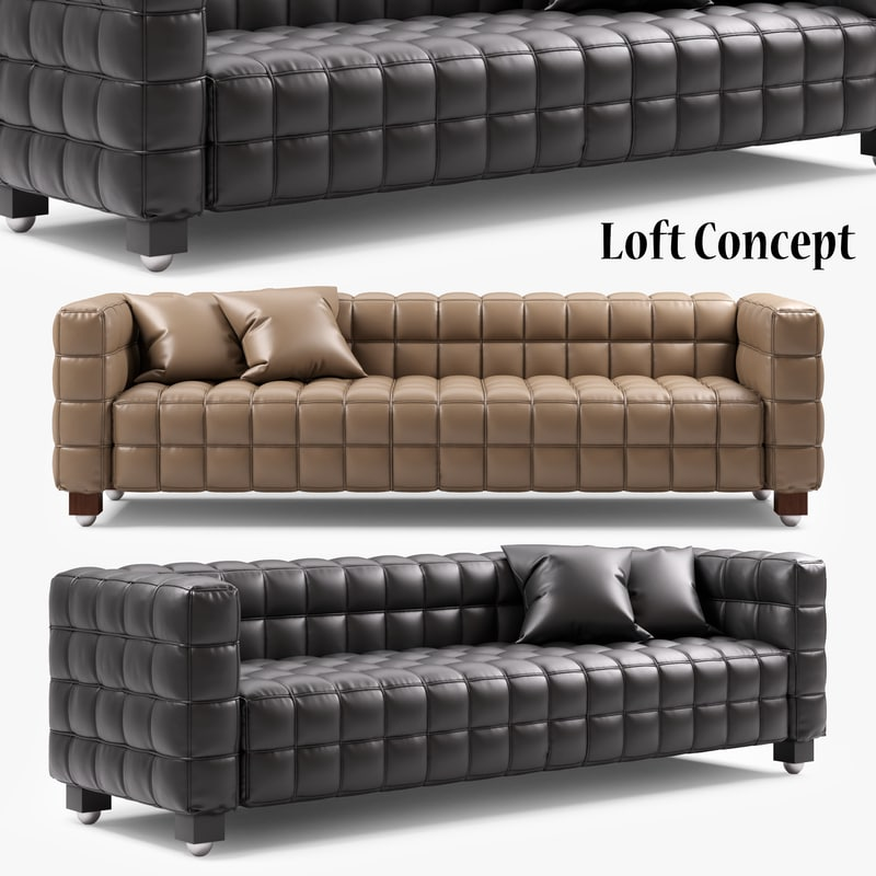 sofa kubus 3 seater model