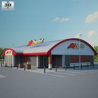 pizza hut restaurant 3D model