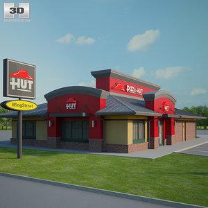 3D pizza hut restaurant model