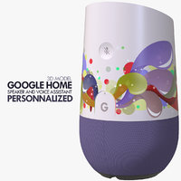 google home device customized 3D