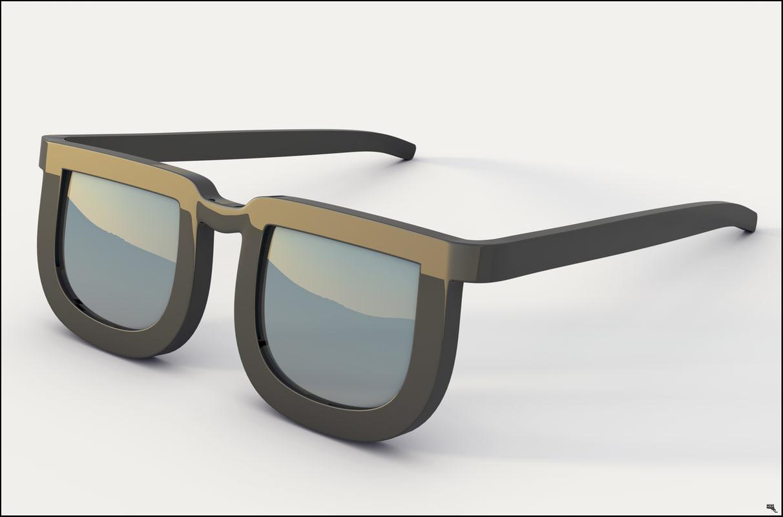 3D glasses cartoon