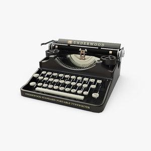 typewriter underwood bank portable model