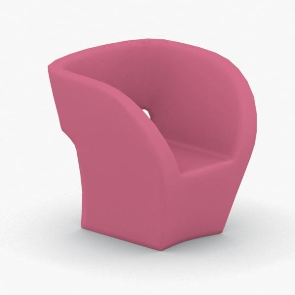 interior - armchair chair stool 3D model