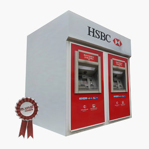 3D model atm machine cash