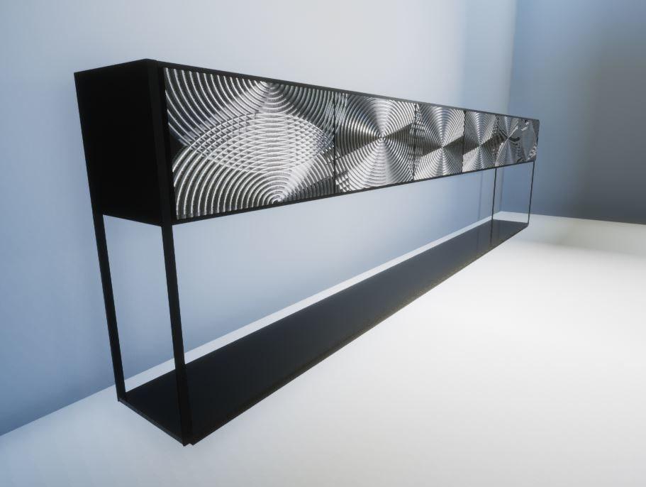 3D metal table lobby model