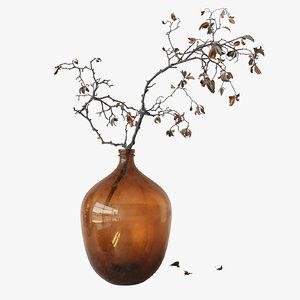 branch brown bottle model