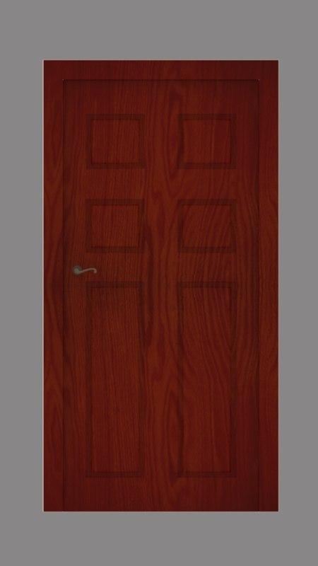3D modern wooden door
