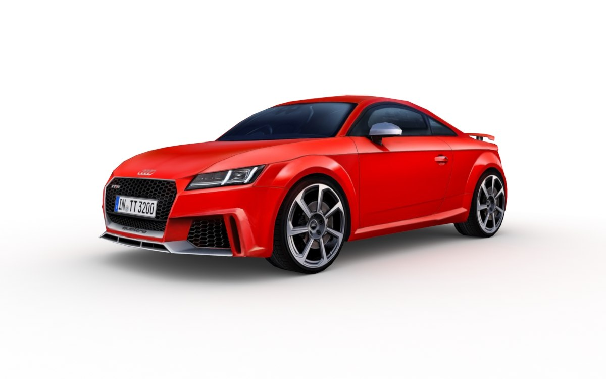 audi tt rs 2017 3d model turbosquid 1237167. Black Bedroom Furniture Sets. Home Design Ideas
