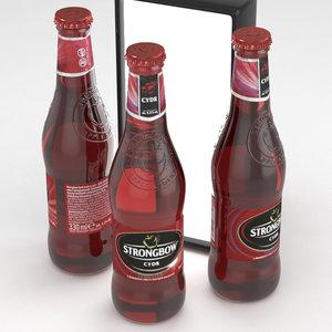 cider bottle 3D model