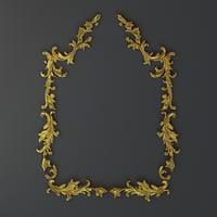 3D frame cartouches