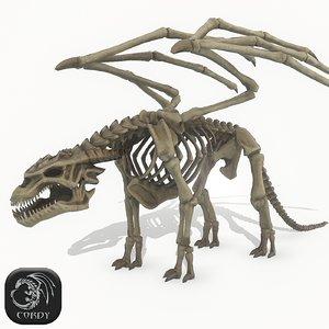 skeleton dragon model