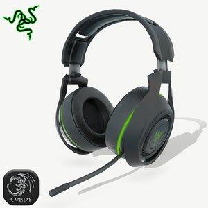 razer manowar headphones 3D model
