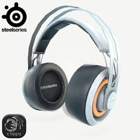 3D steelseries siberia headphones