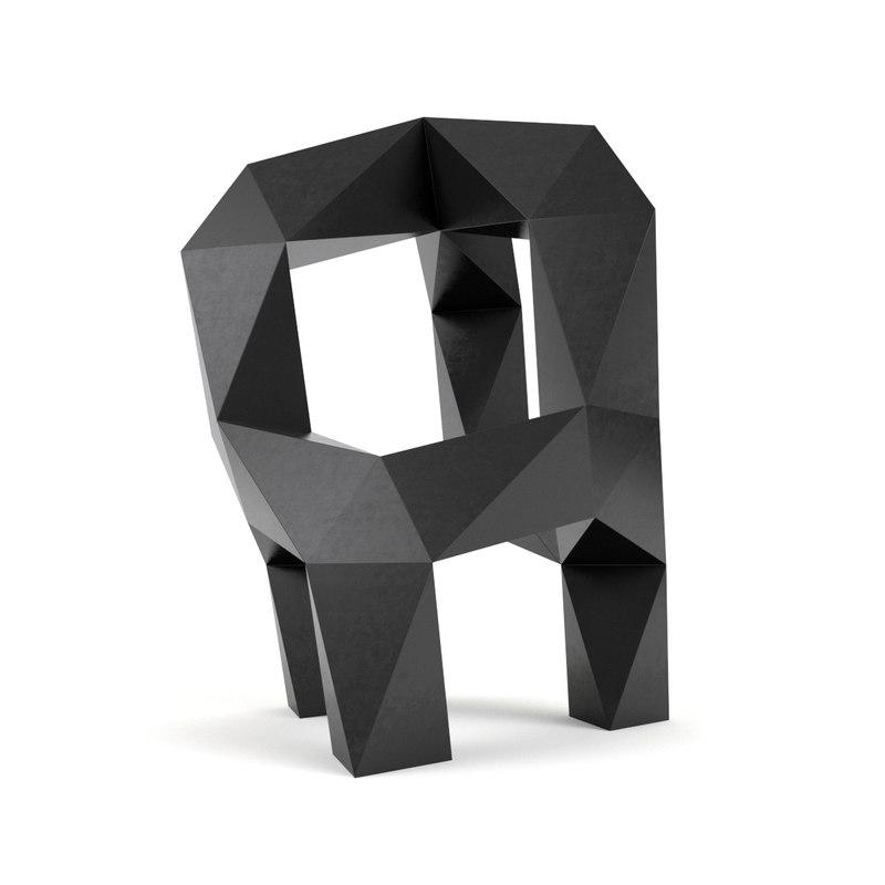 moondog sculpture tony smith 3D model