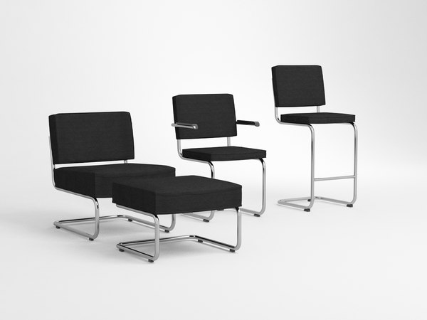3D model ridge chairs