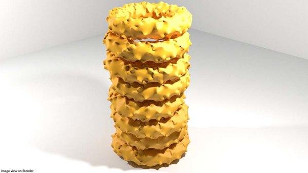 fast fastfood food 3D model