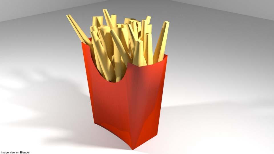 fast fastfood food 3D