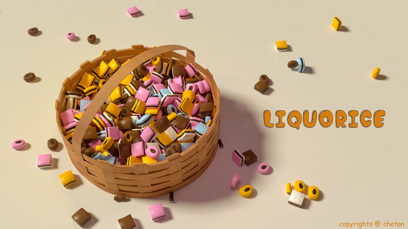 3D candies engliliqries model
