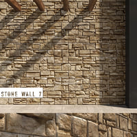 3D seamless stone wall 7 model