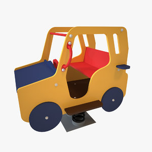 playground spring car 3D model