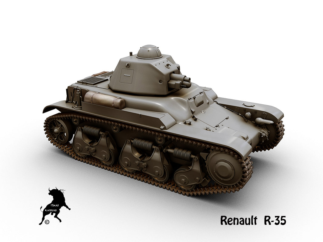 3D renault r35 french model