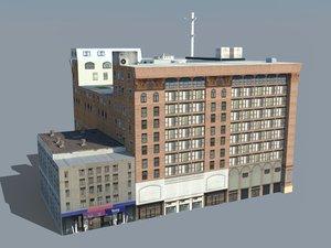 building store city 3D model