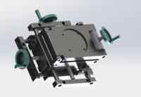 xyz triaxial adjustment platform 3D