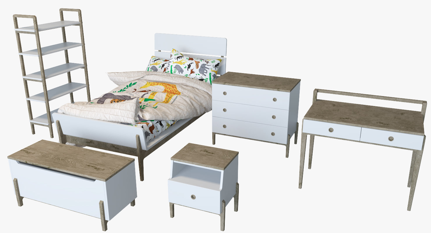 3D kids furniture set