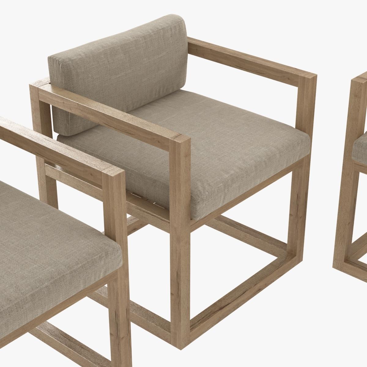 restoration hardware aviara armchair and dining table