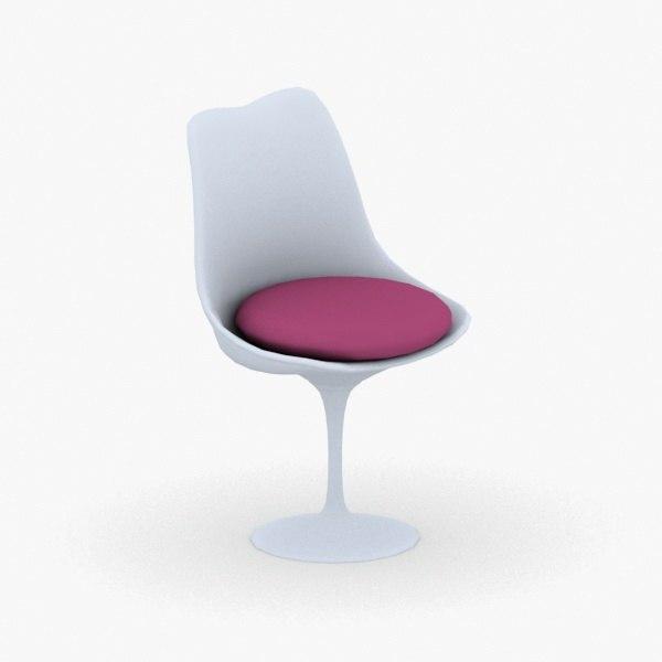 3D interior - chair stool model