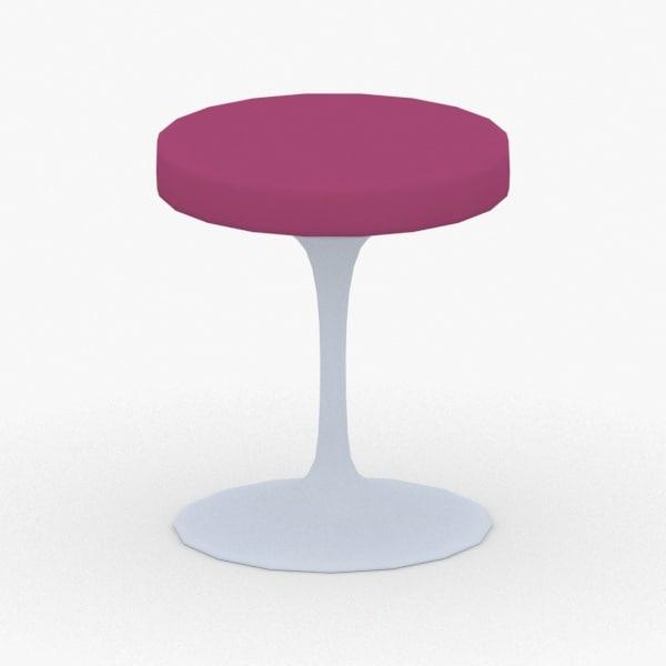 3D model interior - chair stool