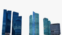 3D singapore 3 skyscrapers model