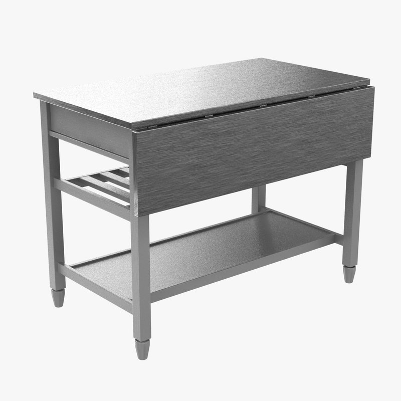 Kitchen Island Crate Barrel D Model TurboSquid - Crate and barrel kitchen island