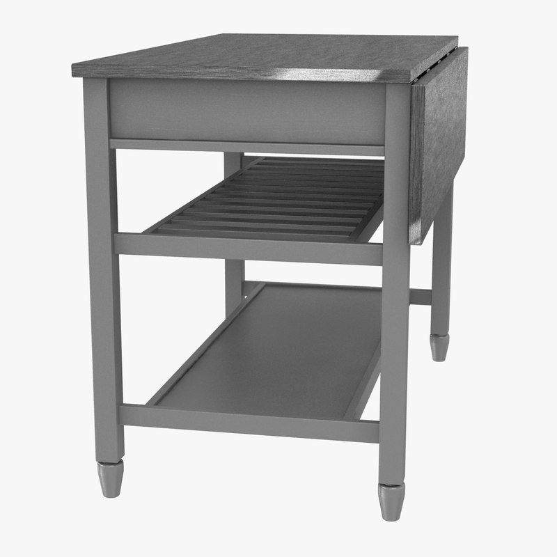 Kitchen Island Crate Barrel D Model TurboSquid - Kitchen island crate and barrel