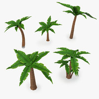 cartoon palm tree v2 3D model