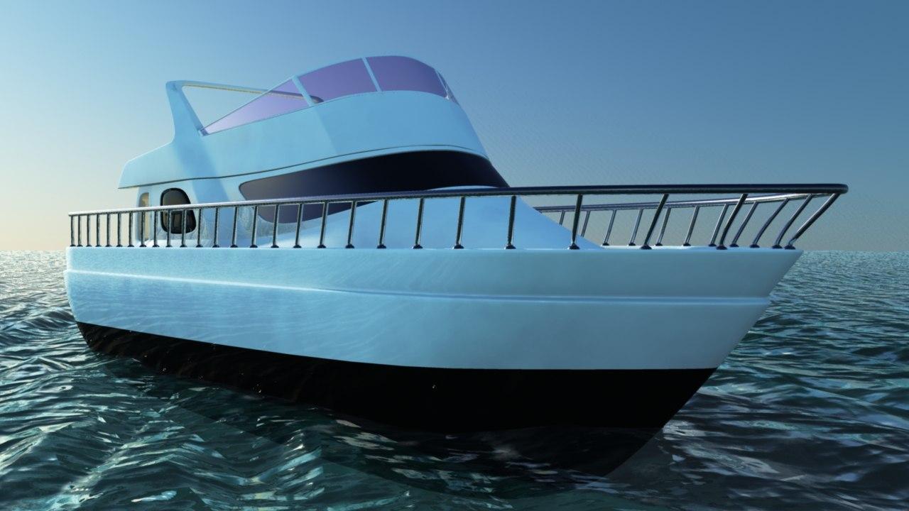 3D boat ocean animation