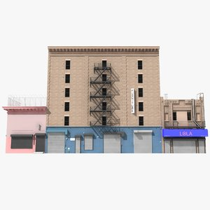 building new york industrial 3D model