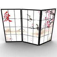 japanese room divider 3D