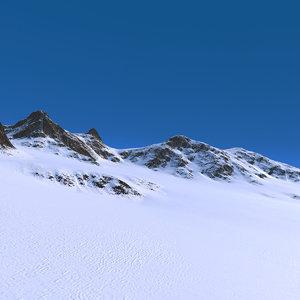 snow mountains landscape range 3D model